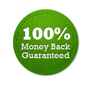 Money Back Guarantee 100% - Circle Badge Green