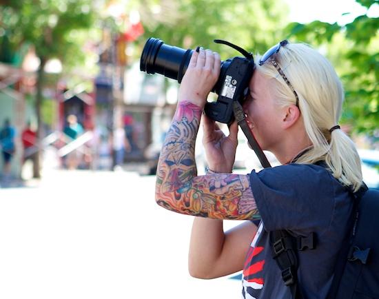 Photo of woman on photo walk
