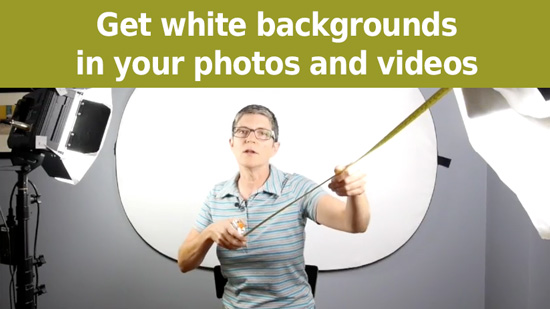 get a white background on your photos and videos