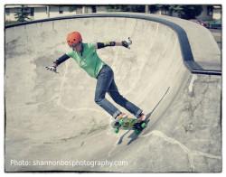 Marlene Hielema in the skate park