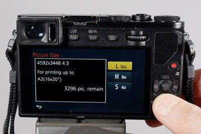 new camera picture size
