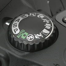 Nikon mode dial
